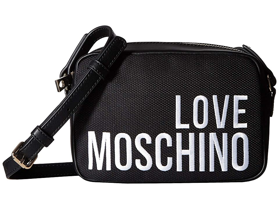 LOVE Moschino - LOVE Moschino Canvas Embroidery Crossbody