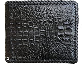 Men's Genuine Crocodiile Bifold Wallet RFID Blocking