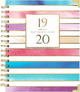 2019-2020 Planner - Academic Weekly & Monthly Planner, Thick Paper with Colorful Tabs - 9.3
