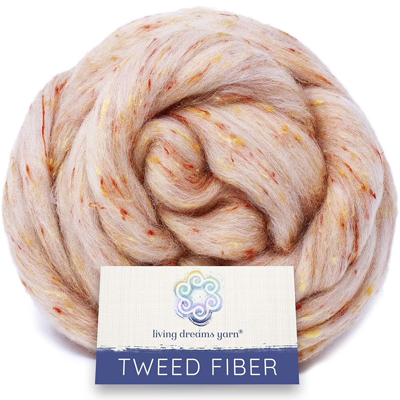 Tweed Effect Fiber for Spinning, Felting, Blending and Dyeing. Super Soft Wool & Viscose Blend. Combed Top Roving. Beatrix Potter