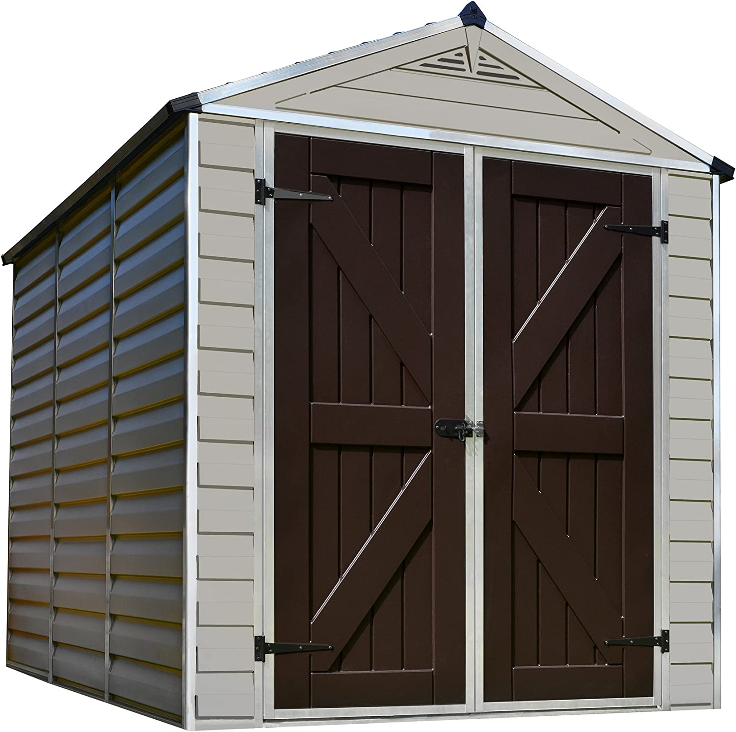 Max 79% OFF Palram SkyLight Storage 2021 spring and summer new Shed 8' x Tan 6'