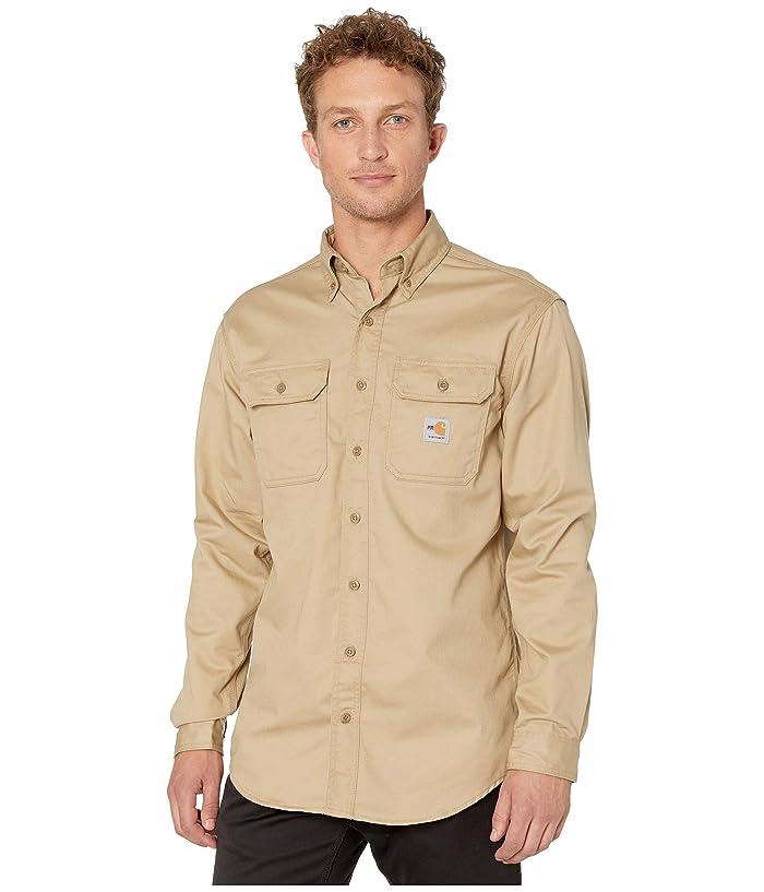 Carhartt  Flame-Resistant (FR) Classic Twill Shirt (Khaki) Mens Short Sleeve Button Up