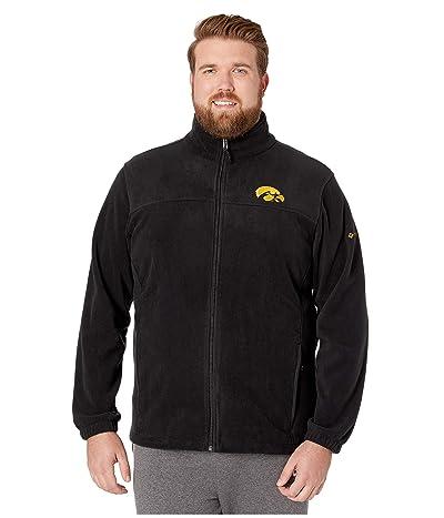 Columbia College Big Tall Iowa Hawkeyes CLG Flankertm III Fleece Jacket (Black) Men