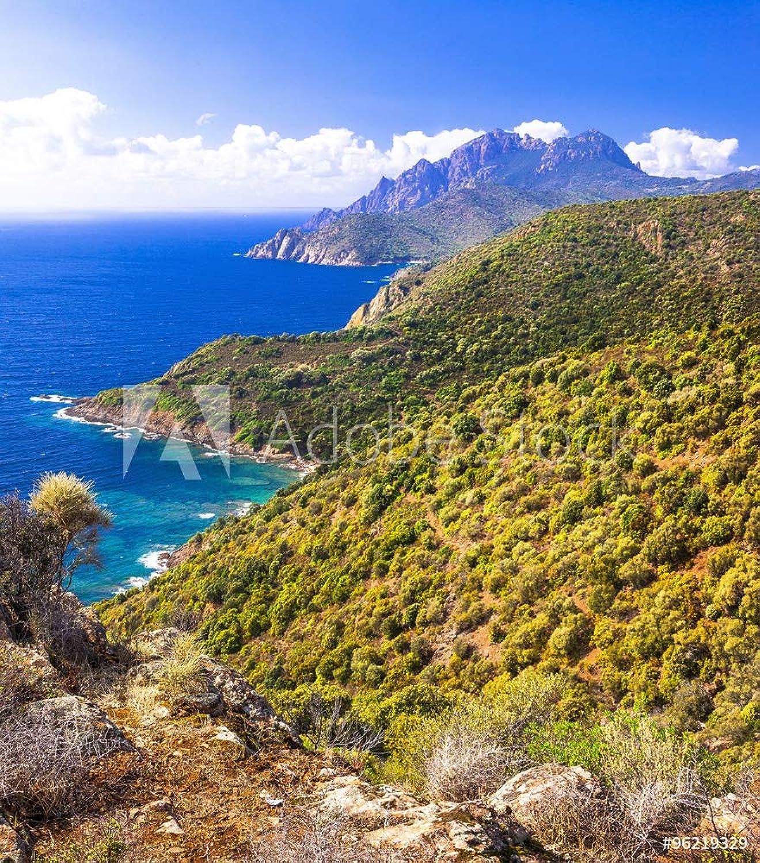 Desconocido druck-shop24 96219329 - Impresión sobre Lienzo, diseo de Isla de Corsica, vídrio acrílico, 3 2-60 x 40 cm   40 x 60 cm