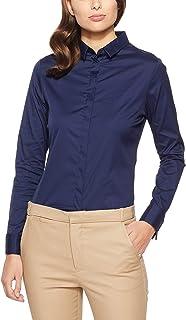 Oxford Women's Angel French Cuff Stretch Shirt, Navy