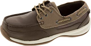 ROCKPORT Works Women's Sailing Club 3 Eye Tie Boat Shoe ST