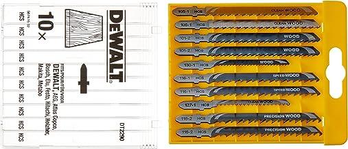 DeWalt HCS decoupeerzaagbladen (10-delige set, voor hout, voor gebruik in decoupeerzagen (kabel en accu), bestaande uit 2x...
