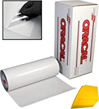 ORACAL Clear Transfer Paper Tape 15ft Roll w/Hard Yellow Detailer Squeegee (24