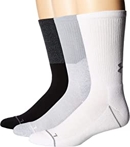 Phenom 5.0 Solid Crew Socks 3-Pair