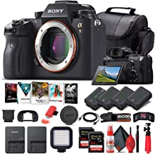 Sony Alpha a9 Mirrorless Digital Camera (Body Only) (ILCE9/B) + 2 x 64GB Memory Card + 3 x NP-FZ-100 Battery + Corel Photo...