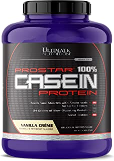 Ultimate Nutrition Hydrolyzed and Micellar Casein Anti Catabolic Protein Powder - 2 In 1 Rapid and Slow Digestion Formula, 5 Pounds, Vanilla