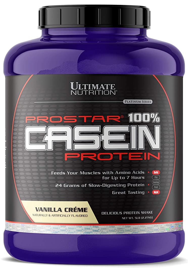 ほのか札入れ志すプロスター - 100% カゼイン プロテイン バニラクリーム 5 lbs