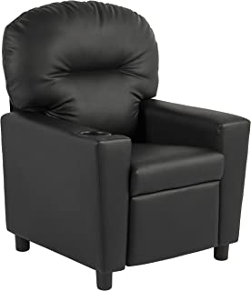 kids black leather recliner