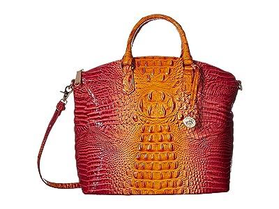 Brahmin Melbourne Large Duxbury Satchel (Passion Fruit) Satchel Handbags