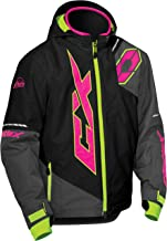 Castle X Stance Youth Snowmobile Jacket - Black/Pink Glo/Hi-Vis (LRG)