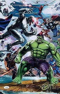 Secret Wars: Heroes 11x17 Lithograph Signed By Greg Horn JSA