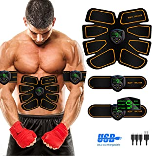 Abs Stimulator Abdominal Muscle, EMS ABS Trainer Body Toning Fitness, USB Rechargeable Toning Belt ABS Fit Weight Muscle T...