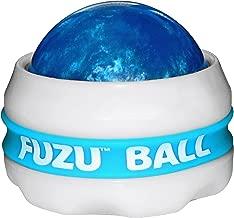 Fuzu Full Body Massager Ball for Deep Tissue Stress Relief, Neon Blue, 1 Massaging Ball