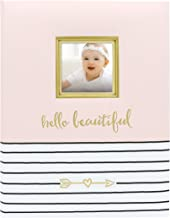Pearhead Hello Beautiful First 5 Years Baby Memory Book with Photo Insert, Baby Shower Gift Pink