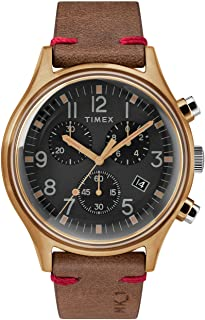 TIMEX Brown Leather Watch-TW2R96300