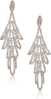 Womens Rhinestone Chandelier Drop Earrings Crystal