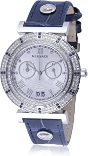 Unisex VA9090013 Vanity Chrono Analog Display Swiss Quartz Blue Watch