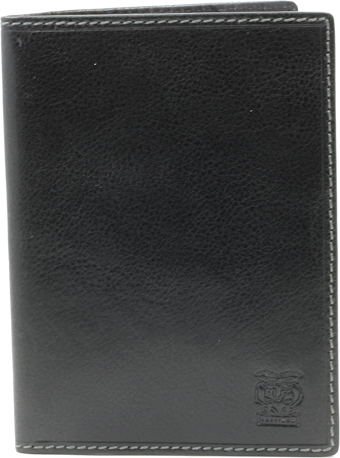 CAPPIANO Mens Trust Genuine Leather Minimalist Slim Travel Wallet 2021 spring and summer new Pa