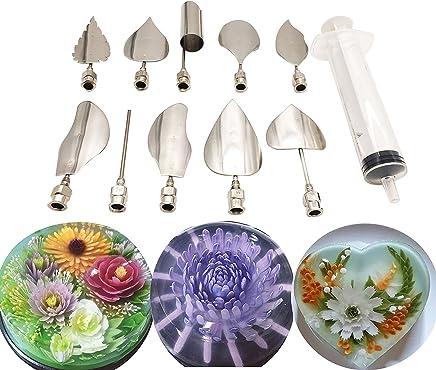 Jelly Art Tools - Juego de 10 herramientas de gelatina para tartas, diseño de gelatina