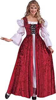Women's Medieval Lace-Up Costume Gown