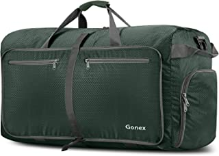 Gonex 100L Foldable Travel Duffel Bag for Luggage Gym Sports, Lightweight Travel Bag with Big Capacity, Water Resistant (Dark green)