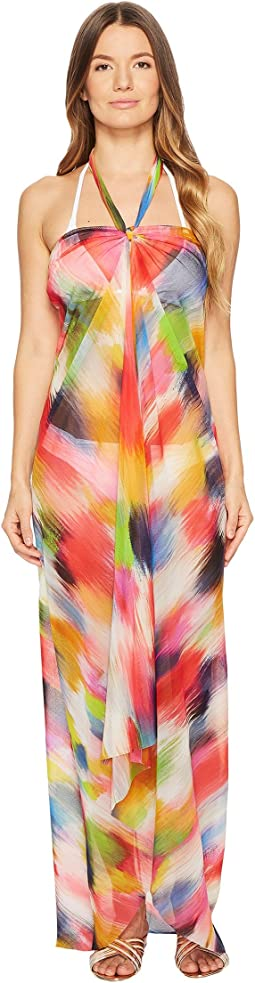 FUZZI - Dress Cover-Up Painterly Rainbow