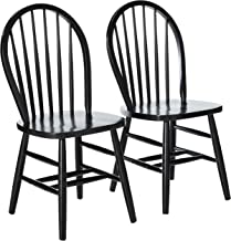 Winsome Windsor 2-PC Set RTA Black Chair