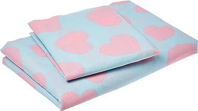 Eponj Home Single Quilt Cover Set - Duvet Cover: 155 x 220 cm Pillowcase: 50 x 90 cm (1 Piece)