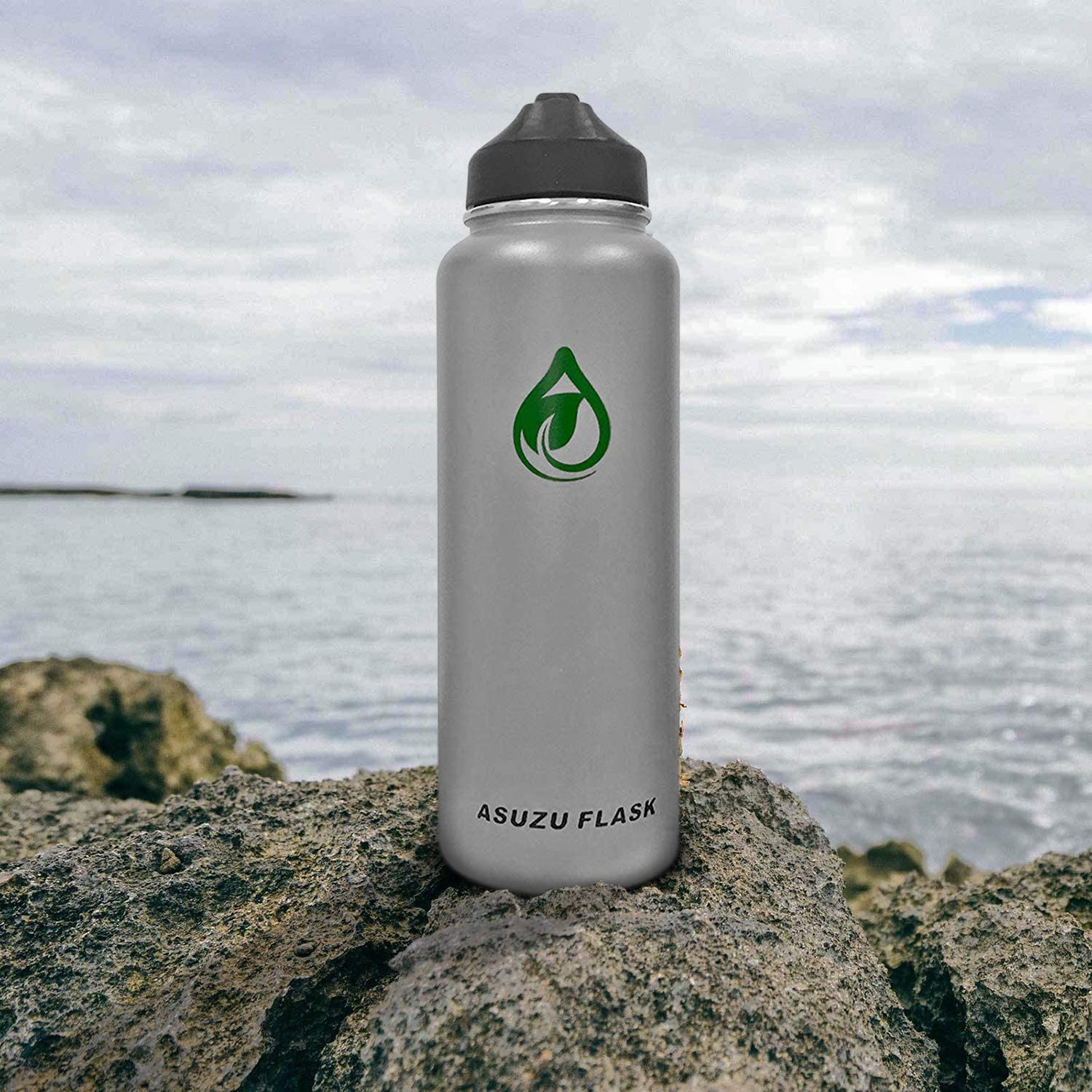 Office Double Insulated Water Bottle and Home Flask Double Wall Vacuum Insulated Water Bottle with Wide Mouth Straw Sports Asuzu Stainless Steel Water Bottle for Traveling Gym