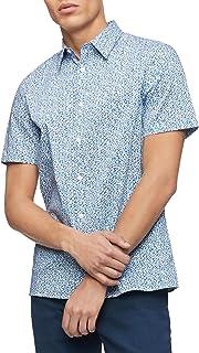 Men's Short Sleeve Button Down Stretch Cotton Shirt