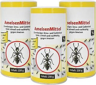 com-four® Hormigas 3X con Cebo 250g Cada una, Basura y Veneno para Hormigas, 750g (03 Piezas - remedio para Hormigas)