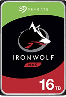 Seagate IronWolf Pro 16 TB NAS Internal Hard Drive HDD – 3.5 Inch SATA 6 GB/s 7200 RPM 256 MB Cache for RAID Network Attac...