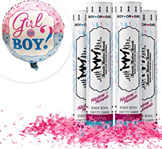 Best gender reveal smoke and confetti cannon Reviews
