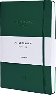 $28 » Undated 12 Month Enlightenment Planner - Track and Increase Productivity, Purpose, Mood, Meditation and Reflect. Daily, We...