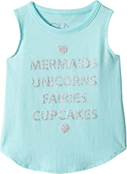 Chaser Kids - Vintage Jersey Mermaids & Unicorns Tank Top (Toddler/Little Kids)