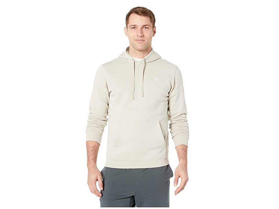 Nike Club Fleece Pullover Hoodie (String/String/White) Men