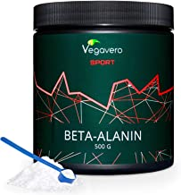 VEGAVERO® Sport Beta Alanine Powder | > 99% Pure | Without additives | Laboratory Tested | Stable can | Carnosine Reservoir* | 125 portions | Weight Training & Endurance Training | Vegan | 500 g