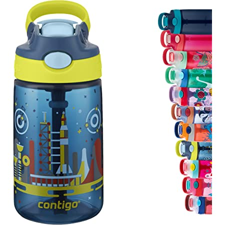 Contigo Gizmo Flip Autospout Kids Water Bottle with Flip Straw