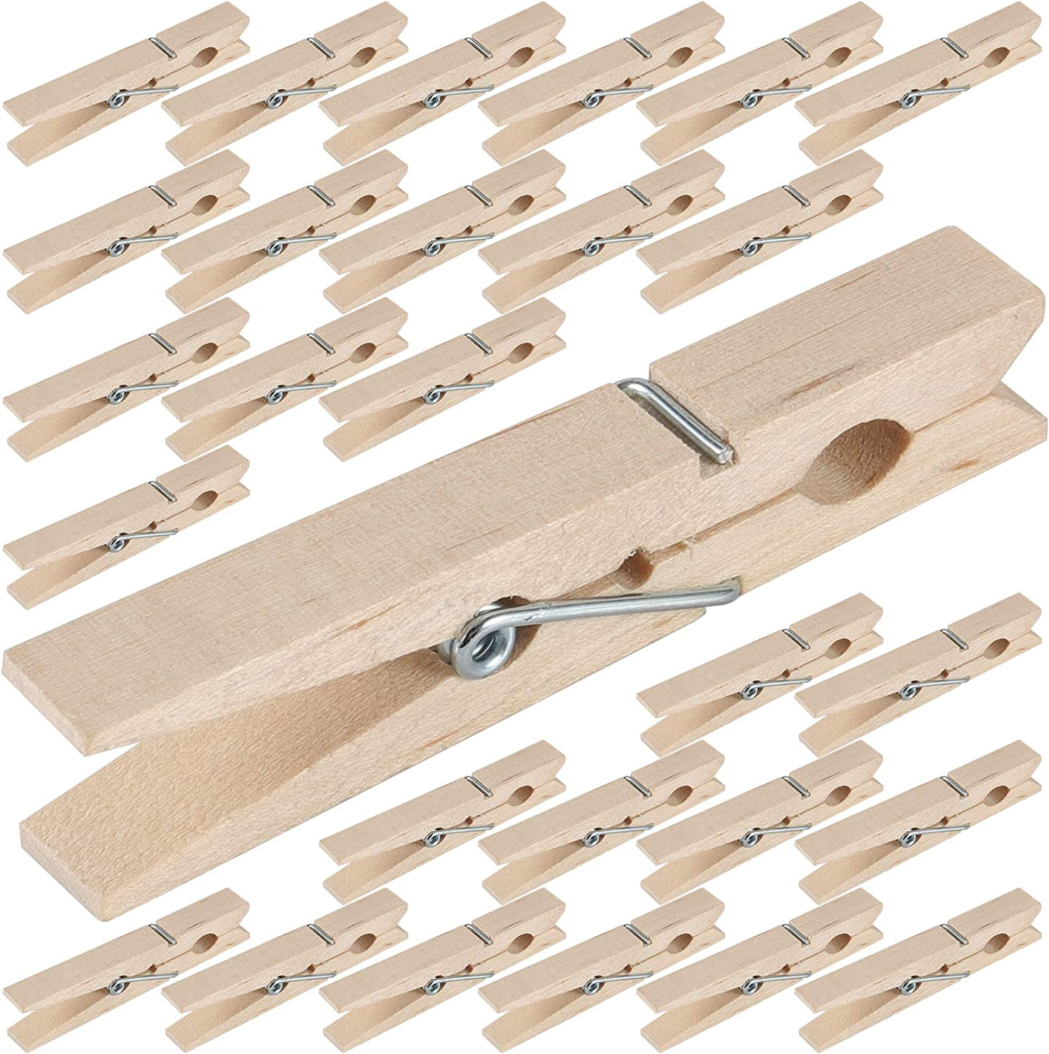 ZEONHAK 300 Pack 2-7 Ranking Opening large release sale TOP6 8 Natural Upgrad Wooden Clothespins Inches
