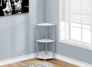 Monarch Accent Table, Black/White/Silver