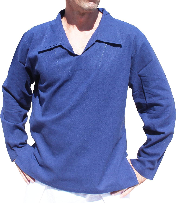 Raan Pah Muang RaanPahMuang European Collar Long Sleeve Summer Cotton Shirt
