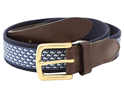 Vineyard Vines Vineyard Whale Canvas Club Belt (Vineyard Navy) Men