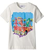 Moschino Kids - Short Sleeve Car at Diner Graphic T-Shirt (Little Kids/Big Kids)
