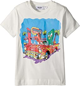 Moschino Kids Short Sleeve Car at Diner Graphic T-Shirt (Little Kids/Big Kids)
