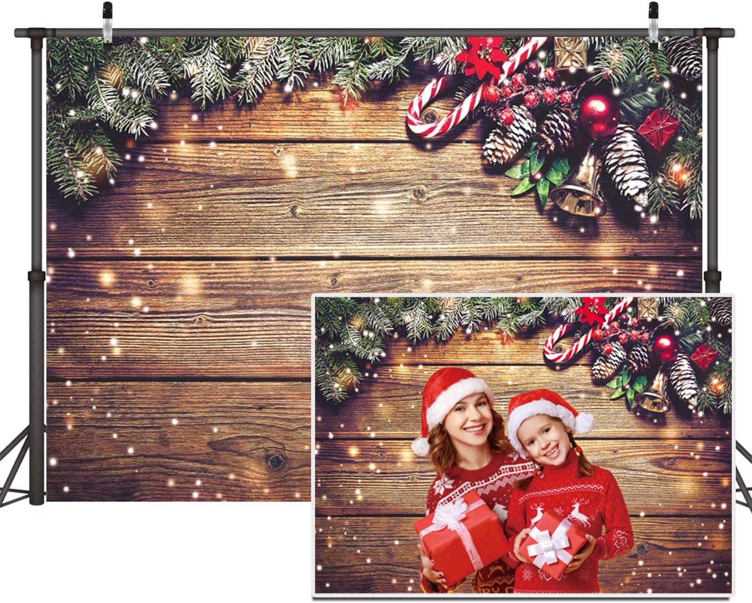 Christmas Photography Backdrop Wood Texture Floor Photo Background Snowflake Happy Holidays Photo Booth Backdrops Studio Photo Backdrop
